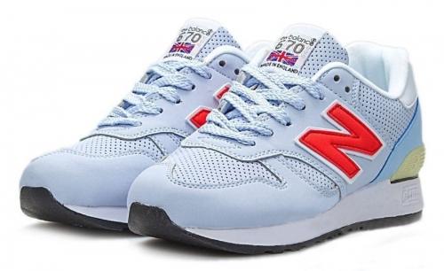 Голубые кроссовки New Balance